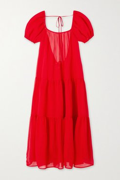 The Robin Tiered Voile Midi Dress