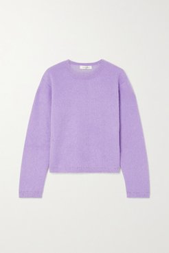 Wool-blend Sweater - Purple