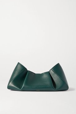 Jeanne Small Leather Clutch - Green
