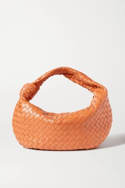 Jodie Small Knotted Intrecciato Leather Tote - Light brown