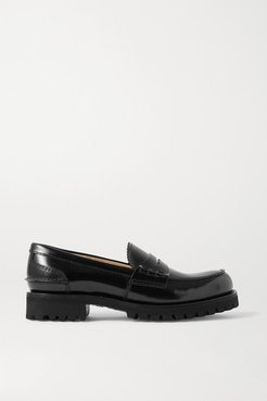 Cameron Glossed-leather Loafers - Black