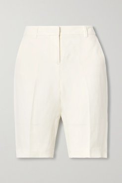 Montreal Linen And Silk-blend Shorts - Ivory