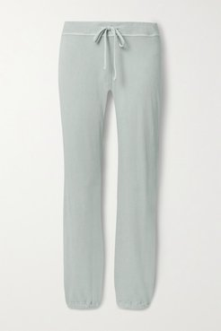 Genie Supima Cotton-terry Track Pants - Light gray