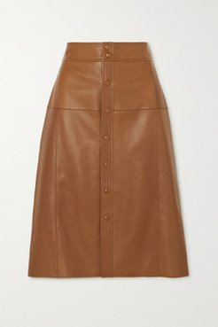 Leather Skirt - Brown