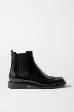 Ceril Glossed-leather Chelsea Boots - Black