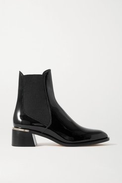Rourke 45 Embellished Patent-leather Chelsea Boots - Black