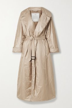 The Cube Cameluxe Belted Shell Coat - Beige