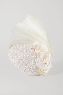 Rosalind Sequin-embellished Tulle And Pinokpok Fascinator - White