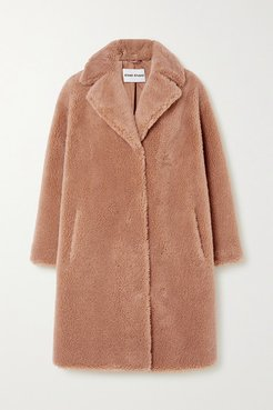 Camille Cocoon Faux Shearling Coat - Beige