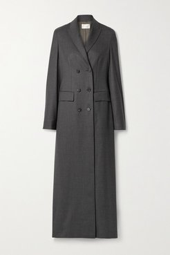 Marleen Double-breasted Wool Coat - Dark gray