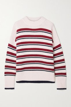 Marin Striped Wool And Cashmere-blend Sweater - Off-white