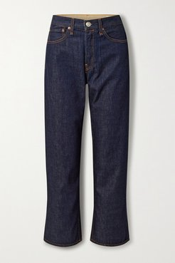 Maya High-rise Straight-leg Jeans - Dark denim