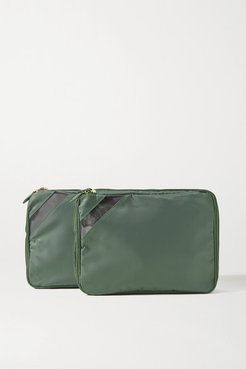 Set Of Two Nylon And Tpu Packing Cubes - Army green