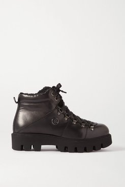 Copenhagen Shearling-lined Leather Ankle Boots - Black