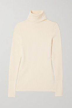 Ribbed-knit Turtleneck Sweater - Ivory