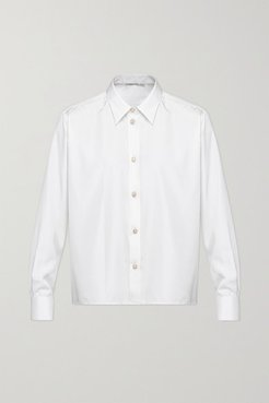 Embellished Silk Shirt - White