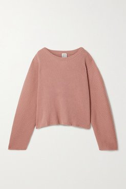 Kai Ribbed Merino Wool Sweater - Antique rose