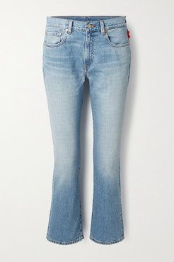 Tracer Mid-rise Flared Jeans - Mid denim