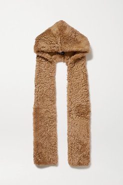 Shearling Scarf - Brown