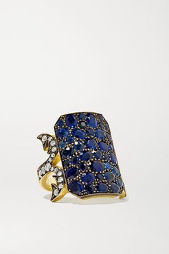 18-karat Gold, Diamond And Sapphire Ring