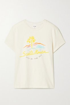 70s Printed Cotton-jersey T-shirt - Ivory