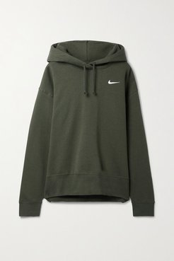 Cotton-blend Jersey Hoodie - Army green