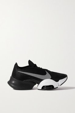 Air Zoom Superrep 2 Rubber-trimmed Ribbed-knit And Neoprene Sneakers - Black