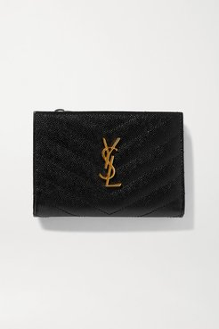 Monogramme Quilted Textured-leather Wallet - Black