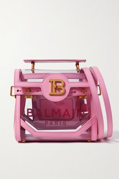 B-buzz 23 Leather And Printed Pvc Shoulder Bag - Pink