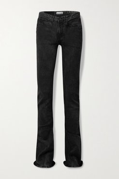 Mid-rise Flared Jeans - Black