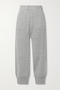 Arch Alpaca And Wool-blend Track Pants - Light gray