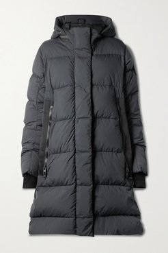 Byward Hooded Grosgrain-trimmed Quilted Shell Down Parka - Black