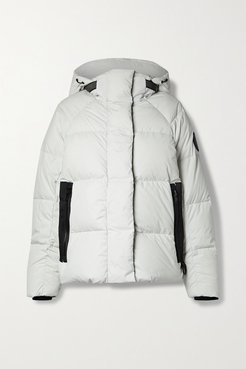 Junction Hooded Quilted Shell Down Jacket - Light gray