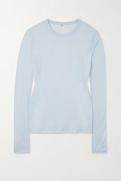 Bamboo-jersey Top - Blue