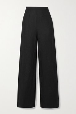 Net Sustain Sibyl Linen Wide-leg Pants - Black