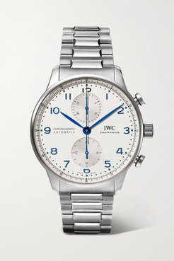 Portugieser Automatic Chronograph 41mm Stainless Steel Watch - Silver