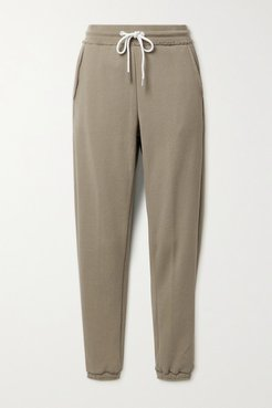 French Cotton-terry Track Pants - Sand