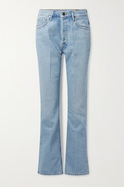 Net Sustain The Nineties High-rise Bootcut Jeans - Light blue