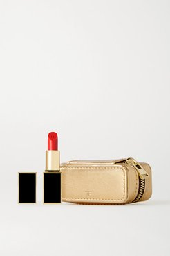 Lip Color Matte And Metallic Leather Case Set - Flame