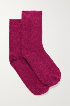 Cotton-blend Terry Socks - Pink