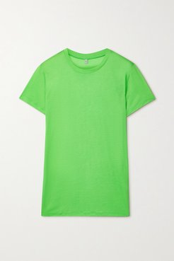 Bamboo-jersey T-shirt - Lime green