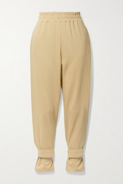 French Cotton-terry Track Pants - Camel