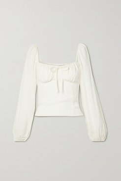 Prince Shirred Georgette Top - Ivory