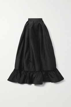 Switchwear Bow-detailed Recycled Duchesse-satin Maxi Skirt - Black