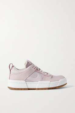 Dunk Low Disrupt Leather And Mesh Sneakers - Lilac