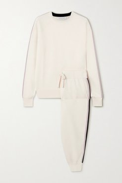 Missy Moscow Striped Silk-blend Sweatshirt And Track Pants Set - Ivory