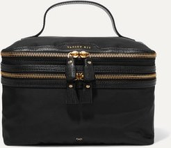 Vanity Kit Leather-trimmed Cosmetics Case - Black