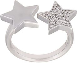 'Stasia' double star diamond ring - Metallic
