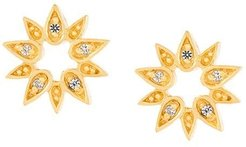 'Mini Sun Biography' stud earrings - Metallic