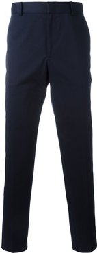 stretch gabardine chino trousers - Blue
